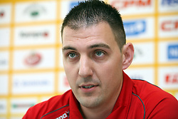 PR of the club Miha Pantelic at press conference of handball club RK Celje Pivovarna Lasko before new season 2008/2009, on September 2, 2008 in Celje, Slovenia. (Photo by Vid Ponikvar / Sportal Images)