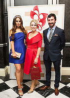 30/07/2015 report free :   Roz Purcell, with Tara Mc Grath, Tuam Co. Galway Winner at the 4 star Hotel Meyrick's Most Stylish Lady competition, and John Faller Faller's  for Ladies Day Galway Race week 2015, Judges were by leading Irish Model Rozanna Purcell,  Mandy Maher Catwalk Models and Mary Lee , Model The winners received an amazing €2,000 prize package from Fallers of Galway . Photo:Andrew Downes, xposure