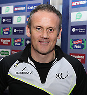 Francis Cummins (Assistant Coach) of Widnes Vikings  during the media launch for the Betfred Super League 2018 season at the John Smiths Stadium, Huddersfield<br /> Picture by Stephen Gaunt/Focus Images Ltd +447904 833202<br /> 25/01/2018