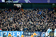 Dinamo Zagreb fans during the Champions League match between Manchester City and Dinamo Zagreb at the Etihad Stadium, Manchester, England on 1 October 2019.