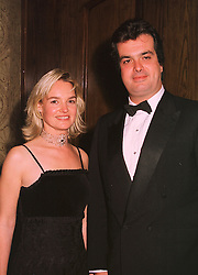 MISS LOUISE CRAMMOND and LORD HOWLAND, at a dinner in London on 17th November 1998.MMB 50
