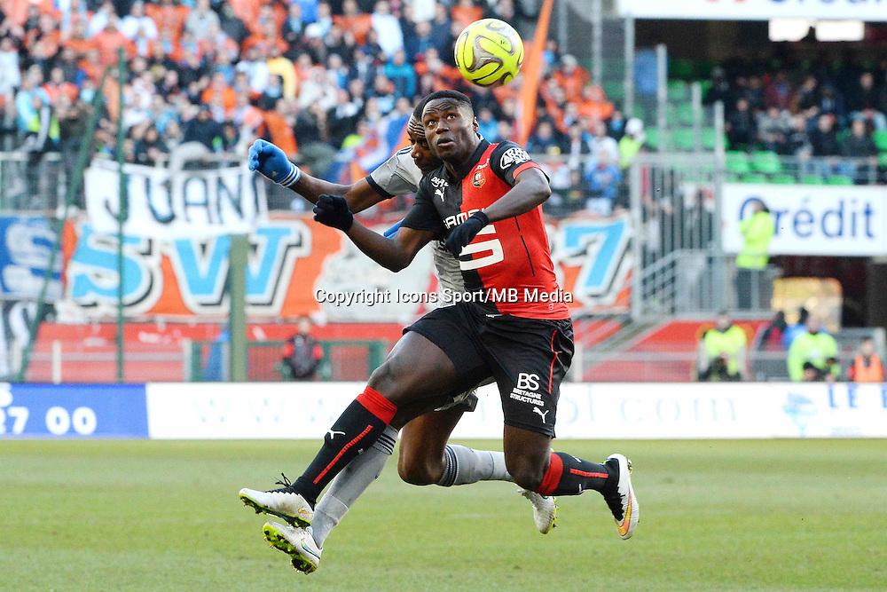 Paul Georges NTEP - 07.02.2015 - Rennes / Marseille - 24eme journee de Ligue 1<br /> Photo : Gaston Petrelli / Icon Sport