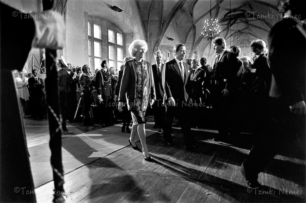 Prague, 2 February 1993 - Prague Castle.Inauguration of the President of the Czech Republic, in the Vladislav Hall.