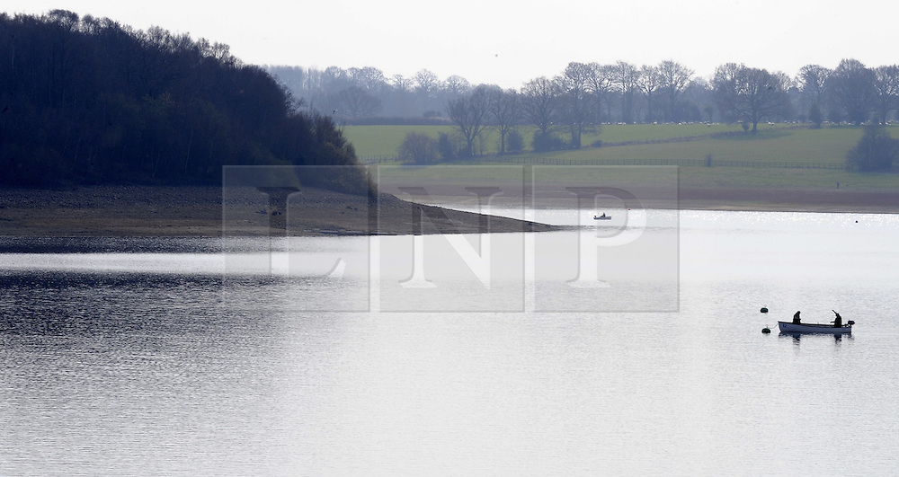 © Licensed to London News Pictures. 30/03/2012. Low water levels at bewl water reservoir near Tunbridge Wells, Kent  on March 30, 2012. Earlier this month seven water companies across east and southern England announced hosepipe bans would come into force before Easter in a bid to conserve water supplies in the face of two unusually dry winters. Photo credit : Grant Falvey/LNP