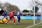 Rhys Murphy of AFC Wimbledon makes it 1-1 during the Sky Bet League 2 match between AFC Wimbledon and York City at the Cherry Red Records Stadium, Kingston, England on 19 March 2016. Photo by Stuart Butcher.