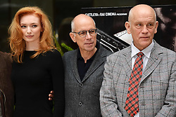 22.02.2013, Hotel Visconti Palace, Rom, ITA, Siberian Education Photocall, im Bild Eleanor Tomlinson, Gabriele Salvatores, John Malkovich // during the Siberian Education Photocall at the visconti Palace Hotel in Rom, Italy on 2013/02/22. EXPA Pictures © 2013, PhotoCredit: EXPA/ Insidefoto/ Andrea Staccioli..***** ATTENTION - for AUT, SLO, CRO, SRB, BIH and SWE only *****