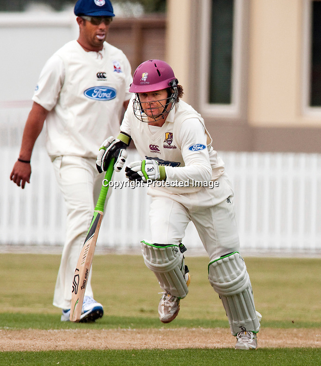 Northern Districts' James Marshall batting in the four day Plunket Shield cricket match between Auckland and Northern Districts at Cobham Oval, Whangarei. Tuesday November 8, 2011.<br /> Photo: Malcolm Pullman/Photosport