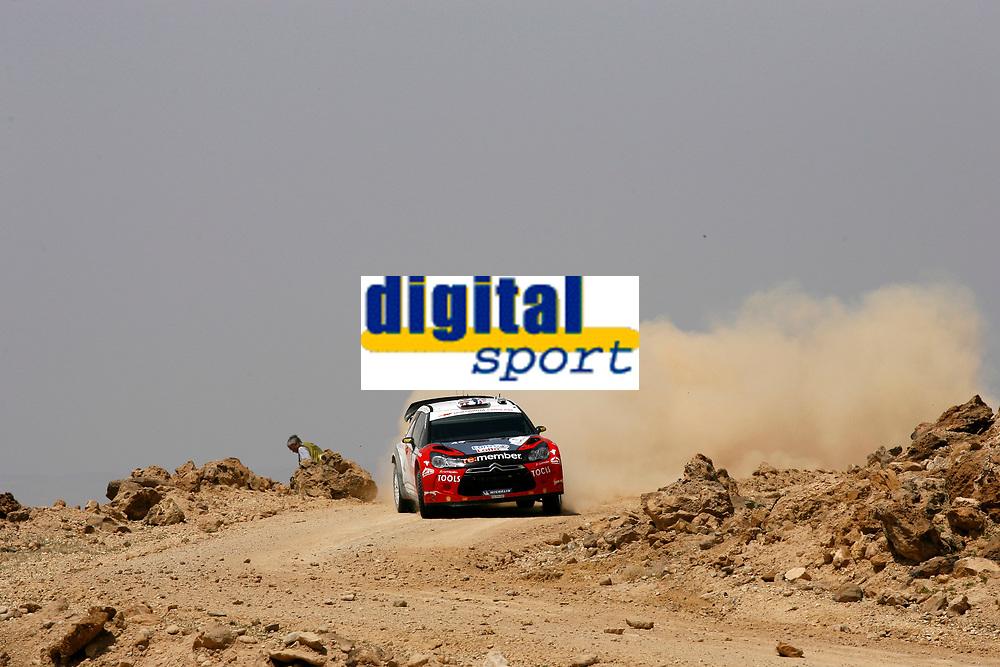 MOTORSPORT - WRC 2011 - JORDAN RALLY - 14 TO 16/04/2011 - DEAD SEA (JOR) - PHOTO : BASTIEN BAUDIN / DPPI - <br /> 11 PETTER SOLBERG (NOR) / CHRIS PATTERSON (GBR) - CITROËN DS3 WRC - PETTER SOLBERG WRT - ACTION