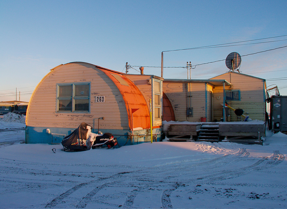 Barrow, Alaska. Quonset Hut used as a home at NARL.