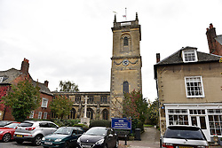 © Licensed to London News Pictures. 20/10/14. WOODSTOCK, OXFORDSHIRE, UK. St Mary Magdalene, Woodstock is the Church where the funeral of the11th Duke of Marlborough will take place on Friday 24th October 2014. Photo credit : MARK HEMSWORTH/LNP