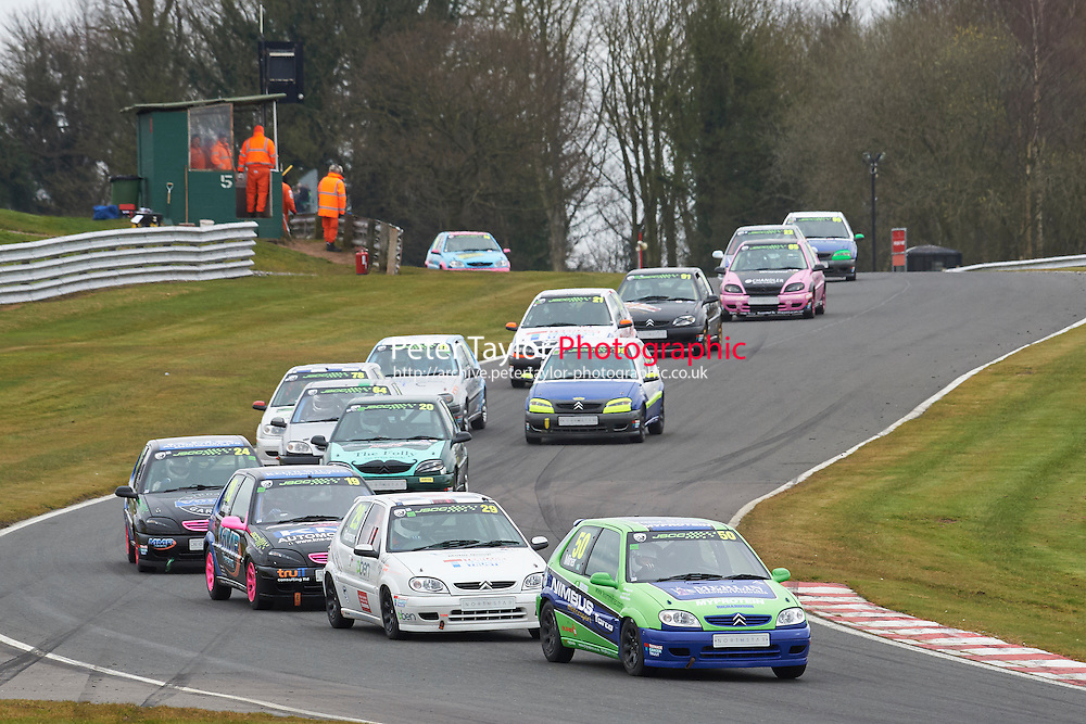 #50 Katie MILNER Citroen Saxo VTR 1600 during Junior Saloon Car Championship as part of the BARC NW - Championship Raceday  at Oulton Park, Little Budworth, Cheshire, United Kingdom. March 19 2016. World Copyright Peter Taylor/PSP. Copy of publication required for printed pictures.  Every used picture is fee-liable. http://archive.petertaylor-photographic.co.uk