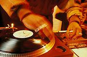 Jungle Brothers DJ Sammy B Dj'ing, London, UK, 1990's
