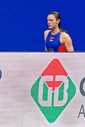 Catharina Van Der Sloot #4 of Netherlands during the semi final Netherlands vs Russia on LEN European Aquatics Waterpolo January 23, 2020 in Duna Arena in Budapest, Hungary