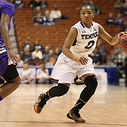 Alliya Butts, Temple, in action during the Temple Vs East Carolina Quarterfinal Basketball game during the American Women's College Basketball Championships 2015 at Mohegan Sun Arena, Uncasville, Connecticut, USA. 7th March 2015. Photo Tim Clayton