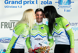POLANC Jan (SLO)  of Slovenian National Team, winner in Intermidiate Sprints classification during trophy ceremony after the UCI Class 1.2 professional race 4th Grand Prix Izola, on February 26, 2017 in Stunjan, Slovenia. Photo by Vid Ponikvar / Sportida