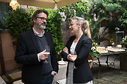 OLAFUR ELAISSON; JEMMA READ, BLOOMBERG LUNCH, METROPOLE HOTEL, . Venice Biennale, 10 May 2017