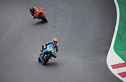 May 22, 2018 - Barcelona, Catalonia, Spain - Alex Rins (Suzuki) and Mika Kallio (KTM) during the Moto GP test in the Barcelona Catalunya Circuit, on 22th May 2018 in Barcelona, Spain. (Credit Image: © Joan Valls/NurPhoto via ZUMA Press)