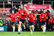 Jordan Henderson (14) of Liverpool during the warm up ahead of the Premier League match between Bournemouth and Liverpool at the Vitality Stadium, Bournemouth, England on 7 December 2019.