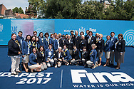 Jury and Judges <br /> Duet Free Final <br /> Synchronised swimming , Synchro<br /> 20/07/2017 <br /> XVII FINA World Championships Aquatics<br /> City Park - Varosliget Lake<br /> Budapest Hungary <br /> Photo Andrea Staccioli/Deepbluemedia/Insidefoto