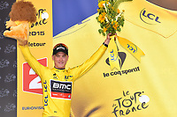 Podium, DENNIS Rohan (AUS) BMC, winner, Yellow Jersey,  during the Tour de France 2015, Stage 1, Time Trial, Utrecht - Utrecht (13,8 km), on July 4, 2015. Photo Tim de Waele /  DPPI