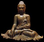19th Century Bronze figure of a Buddha. Myanmar (Burma)