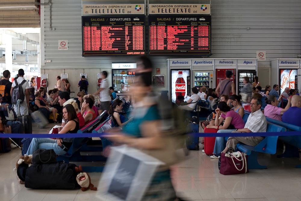 Estación Sur de Autobuses, Madrid, Spain.