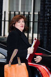 London, February 10th 2015. Ministers arrive at the weekly cabinet meeting at 10 Downing Street. PICTURED: Education Secretary and Minister for Women and Equalities Nicky Morgan