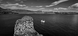 Fishing boat at Arnarstapi in Snaefellsnes, peninsula west Iceland - Bátur við Arnarstapa