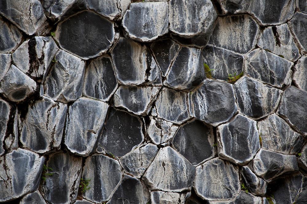 Stu&eth;laberg &iacute; Hlj&oacute;&eth;aklettum &iacute; Vesturdal.<br /> <br /> Columnar basalt at Hlj&oacute;&eth;aklettar, Vesturdalur, North Iceland.