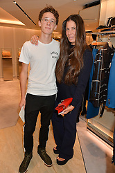 ELIZABETH SALTZMAN and her son HARRY WALKER at a dinner hosted by Tod's to celebrate the refurbishment of their store 2-5 Old Bond Street, London on 15th September 2016.