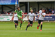 Forest Green Rovers Darren Carter (12) shoots at goal during the Vanarama National League match between Dover Athletic and Forest Green Rovers at Crabble Athletic Ground, Dover, United Kingdom on 10 September 2016. Photo by Shane Healey.