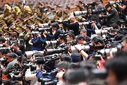 Photographers work during the closing meeting of the fourth session of the 12th National Committee of the Chinese People's Political Consultative Conference at the Great Hall of the People in Beijing, capital of China, March 14, 2016. EXPA Pictures © 2016, PhotoCredit: EXPA/ Photoshot/ Yang Zongyou<br /> <br /> *****ATTENTION - for AUT, SLO, CRO, SRB, BIH, MAZ, SUI only*****
