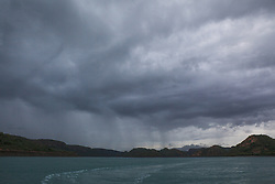 Storms bring rain to Dugong Bay in the Kimberley wet season.