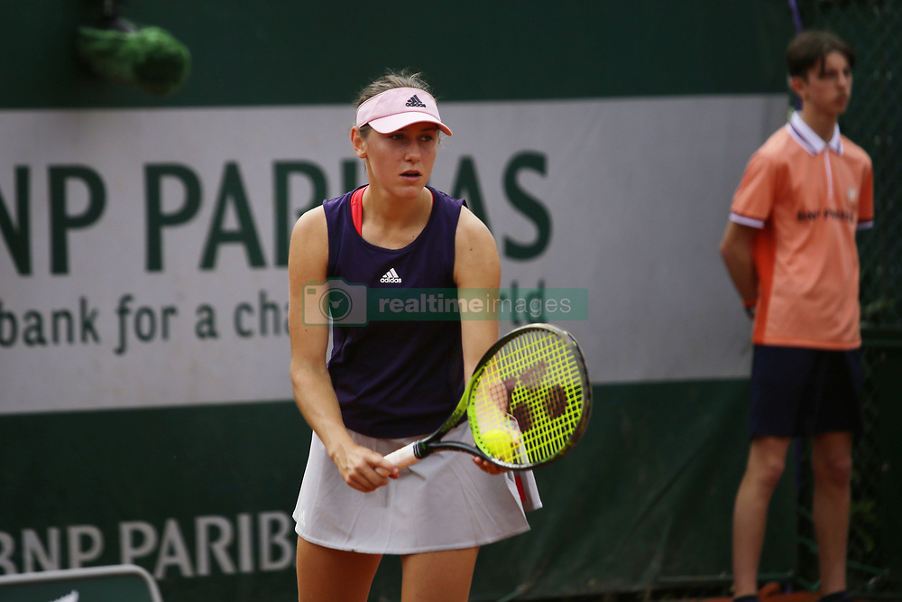 May 21, 2019 - Paris, France - Kaja Juvan during the match between Susanne Celik of SWE vs Kaja Juvan of SLO in the first round qualifications of 2019 Roland Garros, in Paris, France, on May 21, 2019. (Credit Image: © Ibrahim Ezzat/NurPhoto via ZUMA Press)