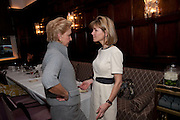 CAROLINA HERRERA; ANNA CARTER, Graydon and Anna Carter host a lunch for Carolina Herrera to celebrate the ipening of her new shop on Mount St. .The Connaught. London. 20 January 2010