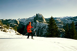 California: Yosemite, Cross Country Ski, skier, model released, photo: skicrc105 .Photo copyright Lee Foster, www.fostertravel.com, 510/549-2202, lee@fostertravel.com