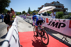 Elisa Longo Borghini charges off the start ramp on Stage 5 of the Giro Rosa - a 12.7 km individual time trial, starting and finishing in Sant'Elpido A Mare on July 4, 2017, in Fermo, Italy. (Photo by Sean Robinson/Velofocus.com)