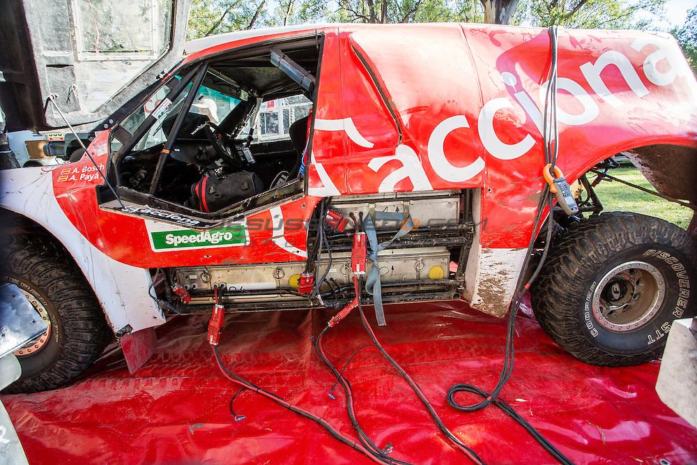 Acciona 100x100 ecopowered,electric car, Dakar 2015, First Bivouac, Villa Carlos Paz.