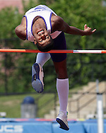 Monroe-Woodbury's Brandon Richardson high jumps during the Section 9 track and field state qualifier in Middletown on Friday, May 31, 2013.