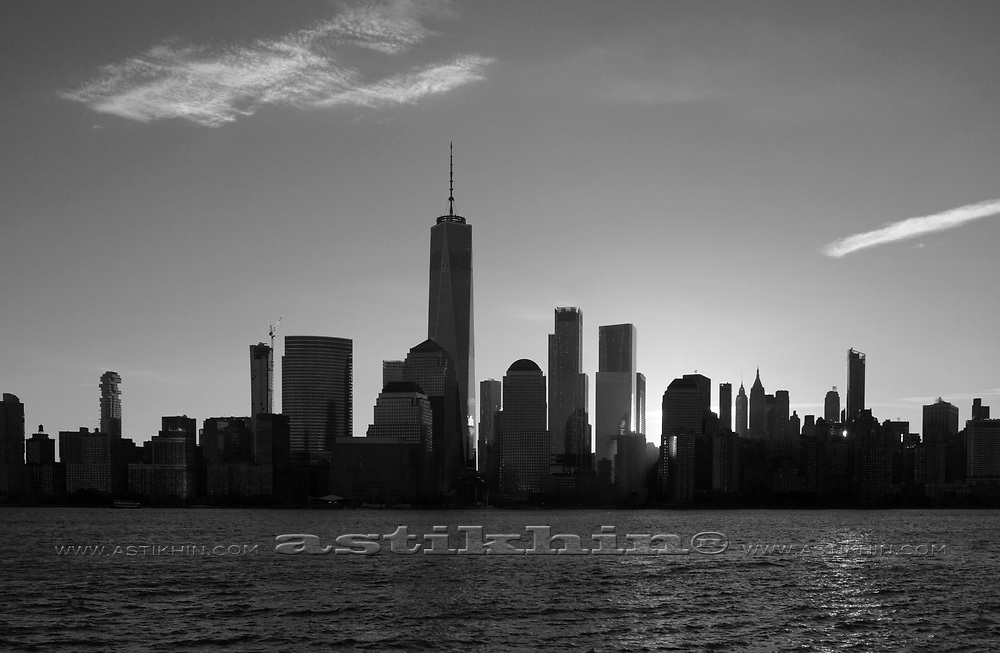 View on Manhattan from New Jersey.