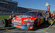 Jeff Gordon Pits during the second Gatorade Duel at Daytona International Speedway Feb. 14, 2008