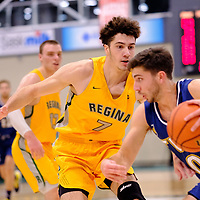 1st year forward, Matt Barnard (7) of the Regina Cougars in action during the Regina Cougars vs Lethbridge game on November 2 at University of Regina. Credit Matte Black Photos/©Arthur Images 2018