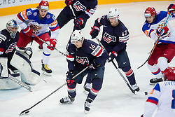 Steve Moses of USA during Ice Hockey match between USA and Russia at Semifinals of 2015 IIHF World Championship, on May 16, 2015 in O2 Arena, Prague, Czech Republic. Photo by Vid Ponikvar / Sportida