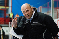 Andrej Hebar, Assistant Coach, during ice-hockey match between HK Acroni Jesenice and HDD Tilia Olimpija in fourth game of Final at Slovenian National League, on April 8, 2011 at Dvorana Podmezaklja, Jesenice, Slovenia. (Photo By Matic Klansek Velej / Sportida.com)