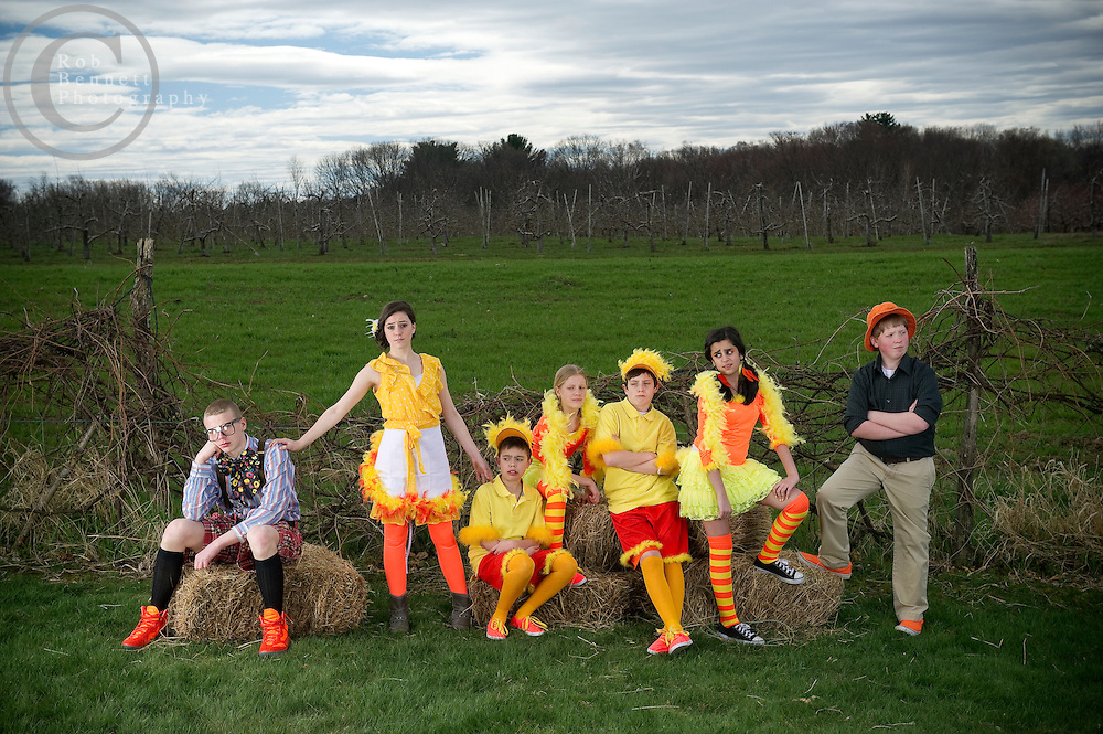 "Apr 7, 2012: Saint John The Baptist School in Peabody, MA - annual school play promo photo - ""HONK!"" .Credit: Rob Bennett"