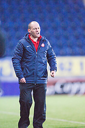 Hamilton's manager Alex Neil.<br /> Falkirk 0 v 0 Hamilton, Scottish Championship game at The Falkirk Stadium. &copy; Michael Schofield 2014.