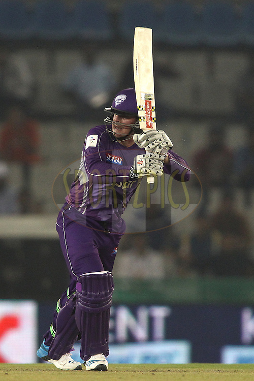 Ben Dunk of the Hobart Hurricanes looks for a run during match 2 of the Oppo Champions League Twenty20 between the Kings XI Punjab and the Hobart Hurricanes held at the Punjab Cricket Association Stadium, Mohali, India on the 18th September 2014<br /> <br /> Photo by:  Shaun Roy / Sportzpics/ CLT20<br /> <br /> <br /> Image use is subject to the terms and conditions as laid out by the BCCI/ CLT20.  The terms and conditions can be downloaded here:<br /> <br /> http://sportzpics.photoshelter.com/gallery/CLT20-Image-Terms-and-Conditions-2014/G0000IfNJn535VPU/C0000QhhKadWcjYs