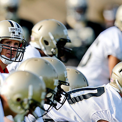Jul 26, 2013; Metairie, LA, USA; New Orleans Saints quarterback Drew Brees (9) at the line during the first day of training camp at the team facility. Mandatory Credit: Derick E. Hingle-USA TODAY Sports