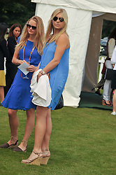 Right, CHELSY DAVY at the Cartier Queen's Cup Polo Final, Guards Polo Club, Windsor Great Park, Berkshire, on 17th June 2012.