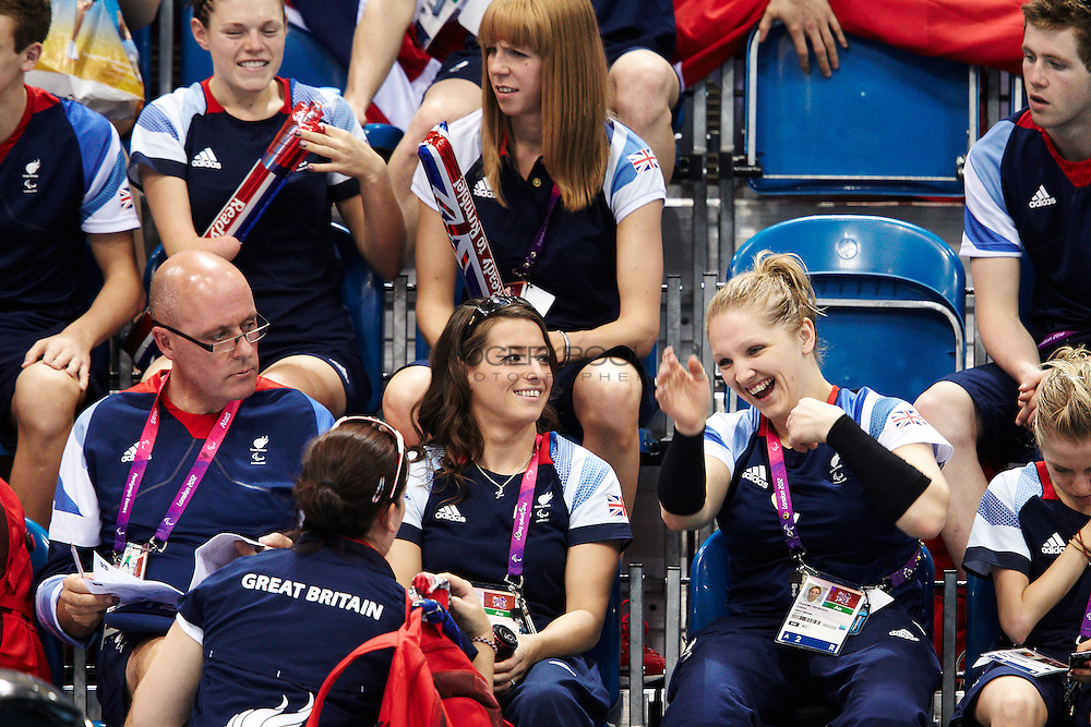 The Great Britain Swimming team at the Aquatics Centre. London 2012 Paralympic Games.